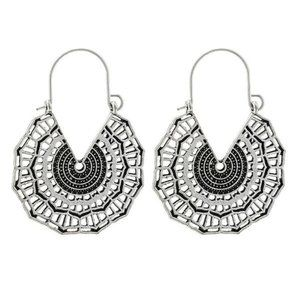 3/$20 New Silver Geometric Vintage Style Earrings